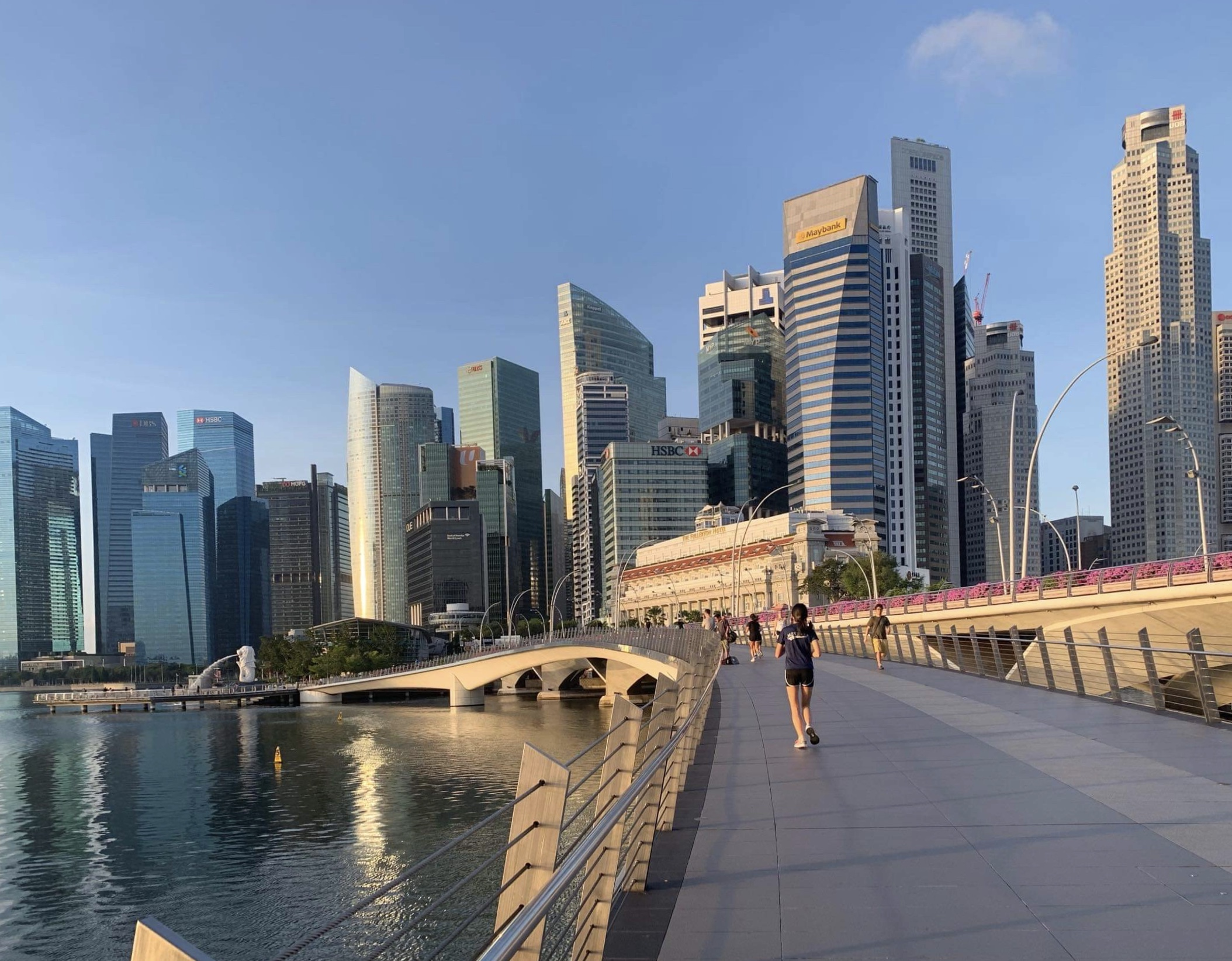 Singapore city bridge