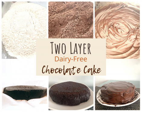 ingredients for dairy-free chocolate cake