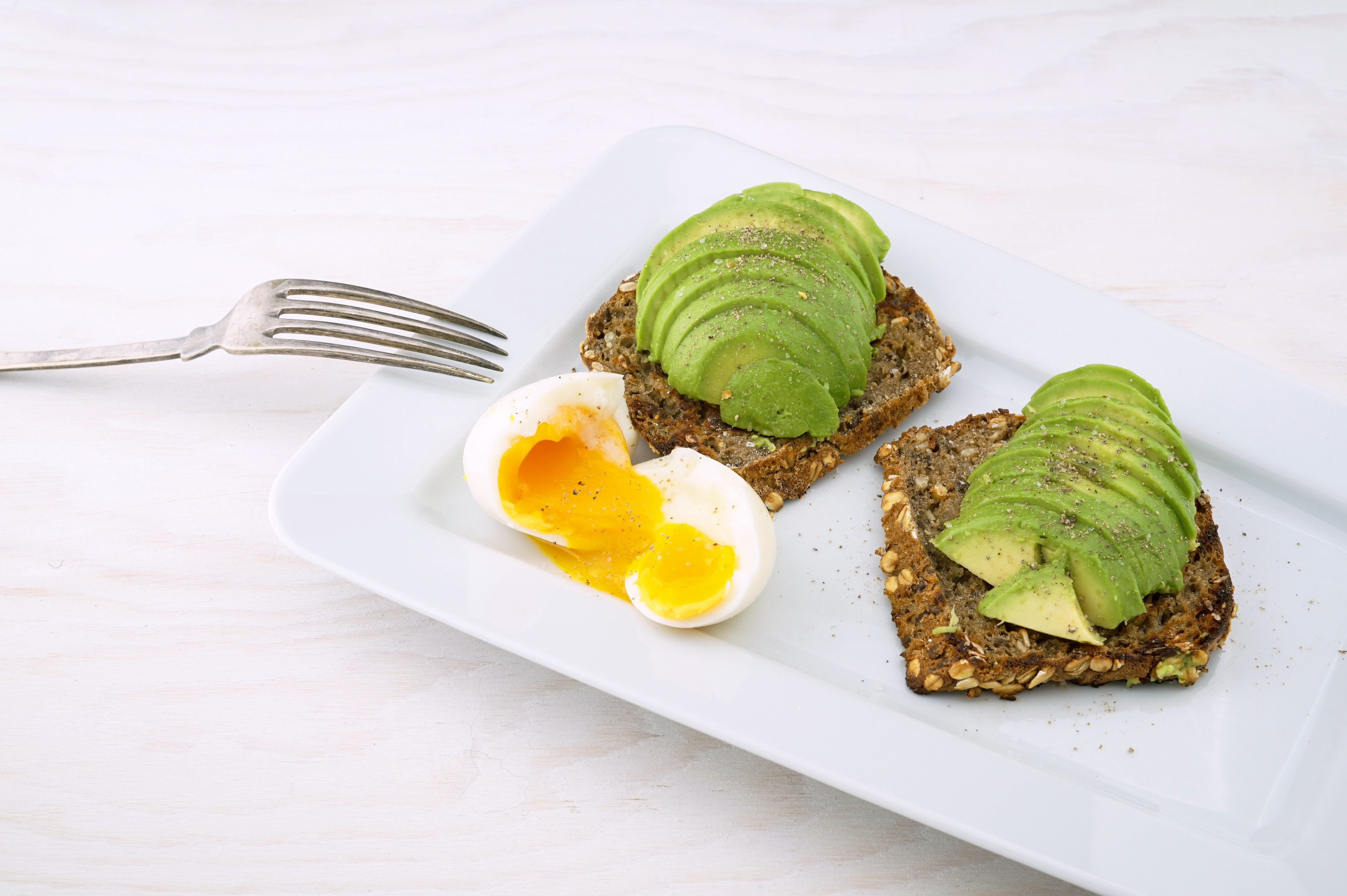 vegetarian favourite Avocado toast with egg