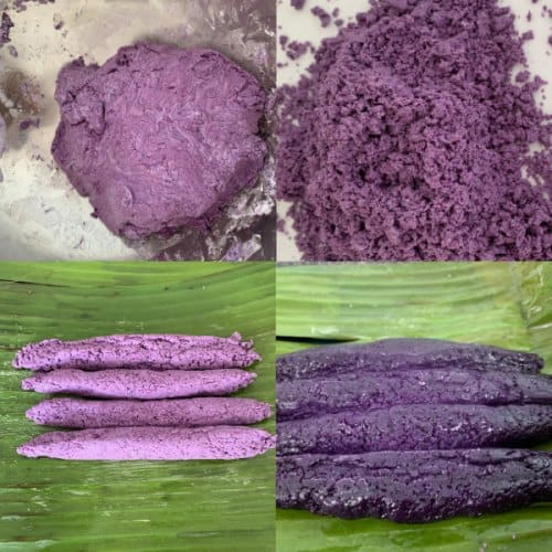 collage ingredients of Puto Bumbong