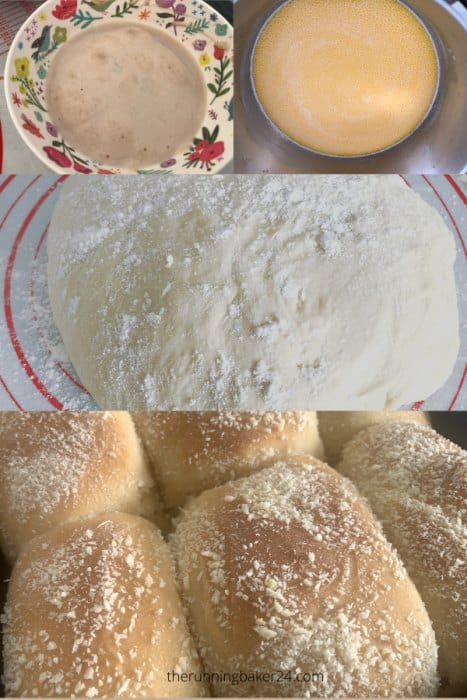 ingredients of Pandesal (milk, yeast, flour)