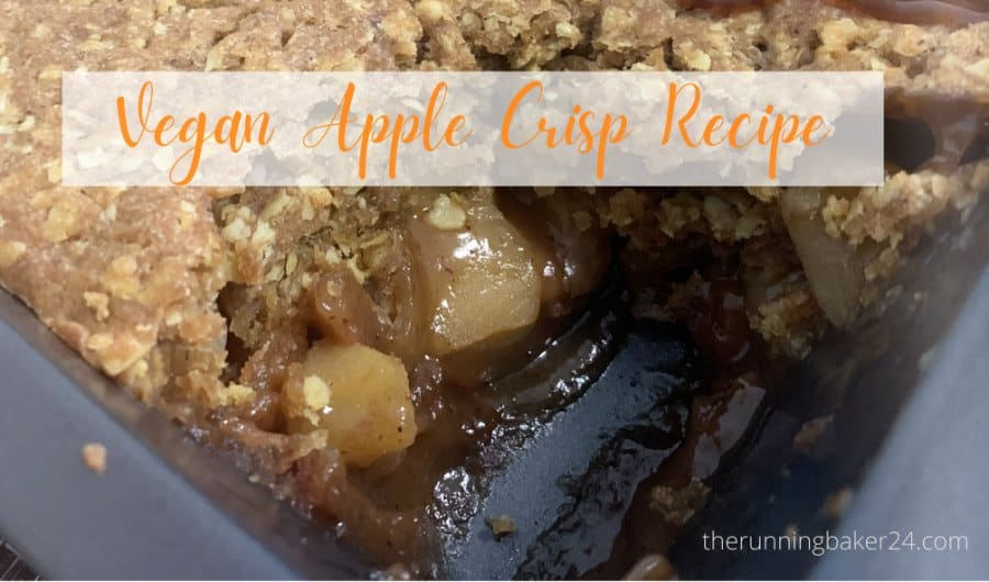 Vegan Apple Crisp Recipe in a baking pn