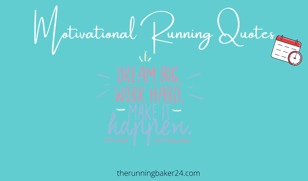 Motivational running quotes poster