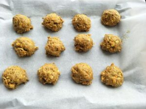 carrot oatmeal cookies ready for baking