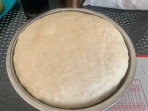dough after proofing