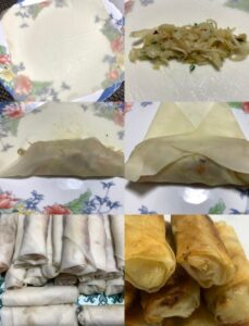 step-by-step wrapping spring roll